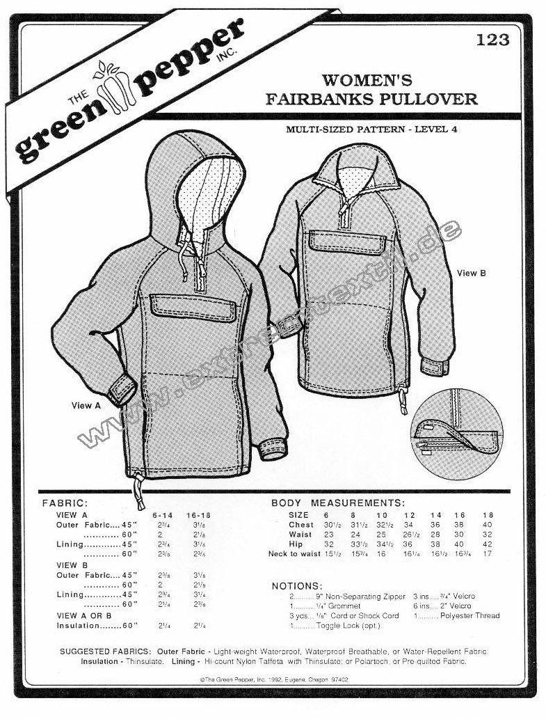 Fairbanks Pullover f Frauen, Schnittmuster GP123Fairbanks Pullover f ...