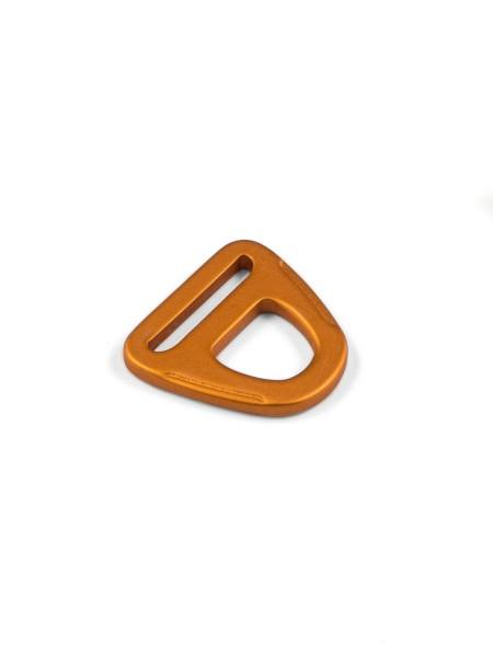 D-Ring, 25mm, mit Öse, Aluminium, eloxiert