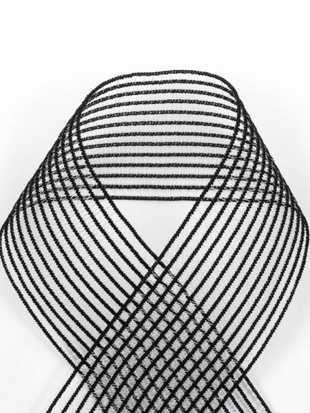 Elastisches Gitterband, Kräuselelastik, weich, 40mm