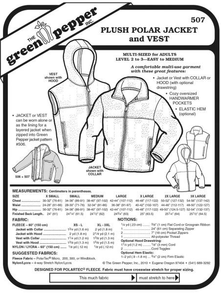 Fleecejacket und vest patterns GP507
