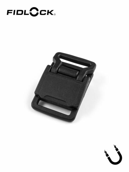 HOOK 20 FLAT ADJUSTER | magnetische Klappschnalle, flach, beids. Gurtschlitze, 20mm