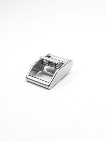 Cam buckle w. spring, stainless steel, 25mm