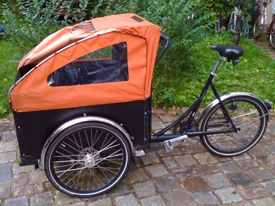 Cover for a Christiania bike