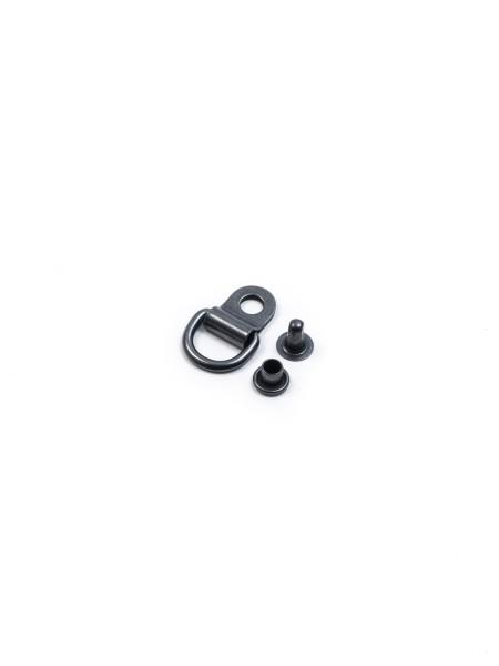 D-Ring zum Nieten, inkl. Niete, 10mm