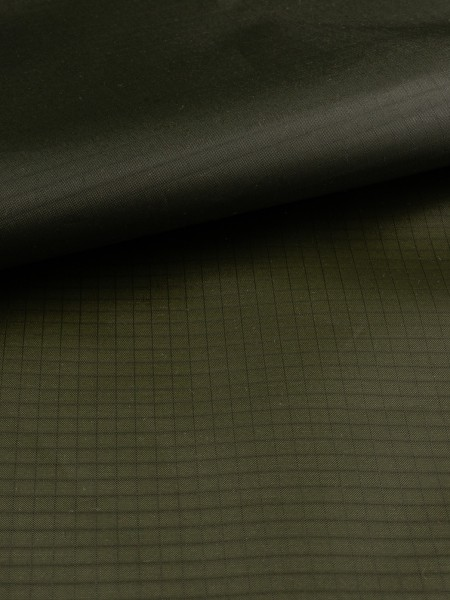Gewebeart Ripstop Ripstop-Polyester, Zeltstoff, silikonbeschichtet, 30den, 45g/qm