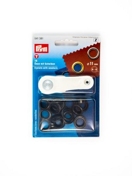 Eyelets with washers, 11mm, Prym 541381 / 541370 / 541371