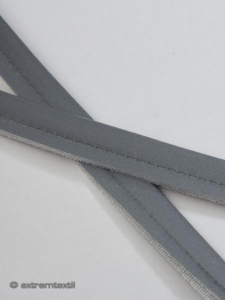 Reflektierende Paspel, elastisch, ohne Kordel, Iqseen, 9mm