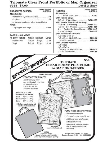 Tripmate Kartentasche, Schnittmuster GP538