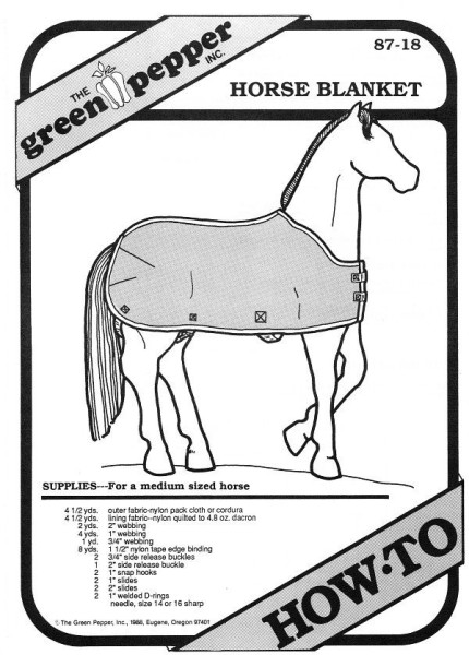 Horse-blanket, How-to GP 8718