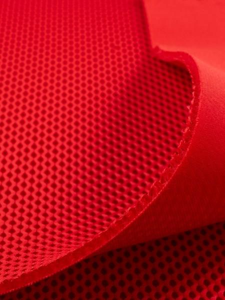 Gewebeart 3D Abstandsgewebe 3D-Netzgewebe, 3mm, COOLMAX, elastisch, 330g/qm, rot