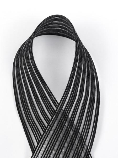 Elastic gridbraid, knitted shirring elastic, strong, 40mm