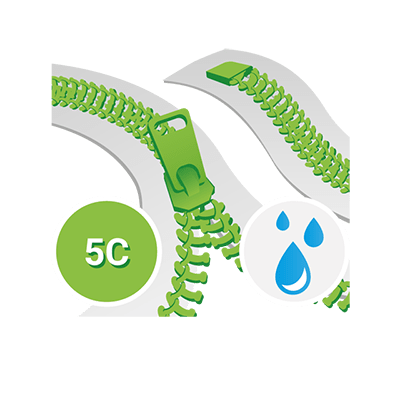 Aquaguard 5C Spirale YKK, Teilbar zweiwege