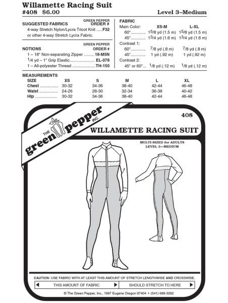 Willamette Racing Suit, pattern GP408