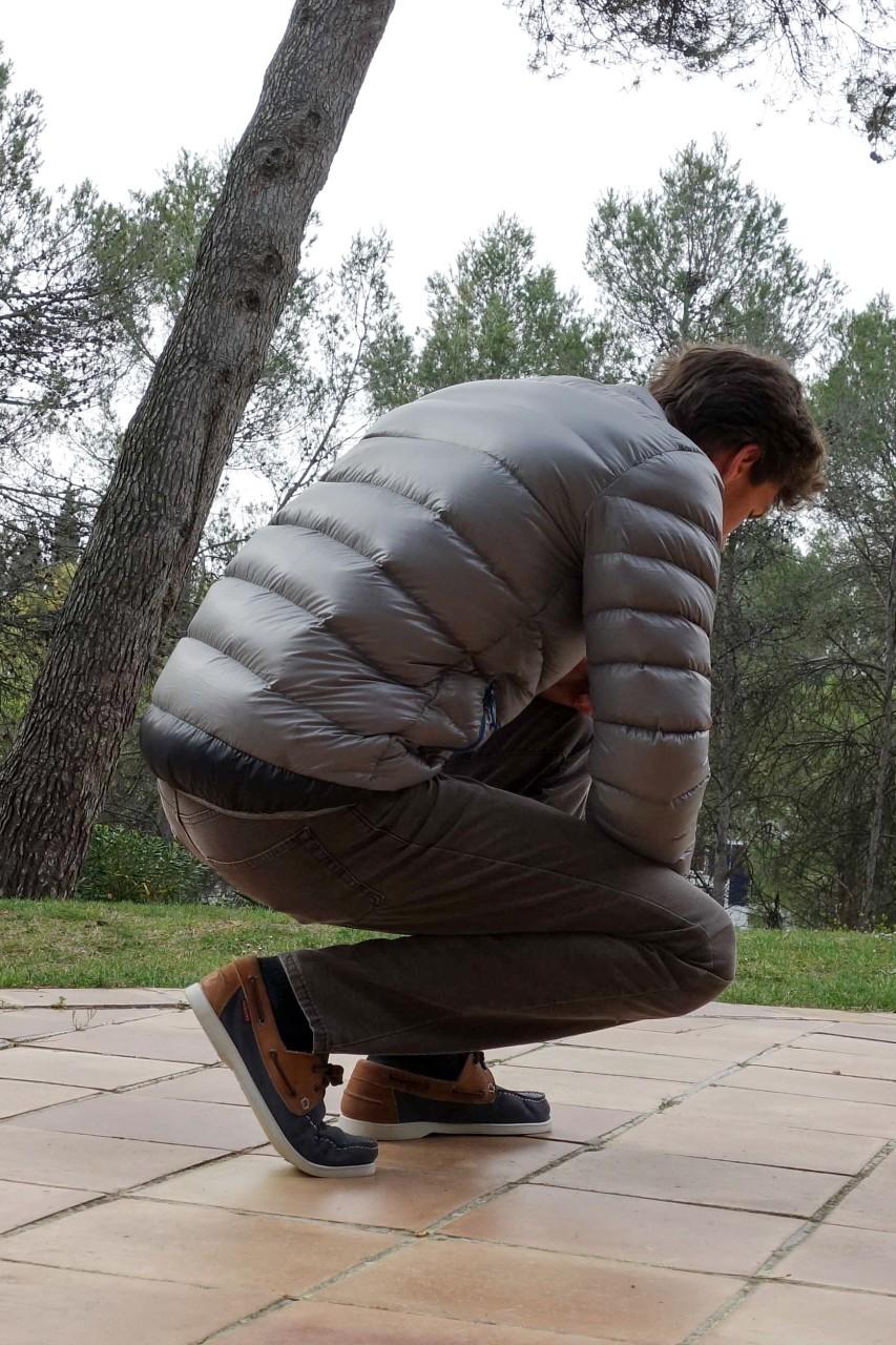 Optimized down jacket
