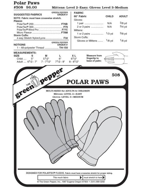 Fleecehandschuhe f. Kinder u. Erwachsene, Schnittmuster GP508