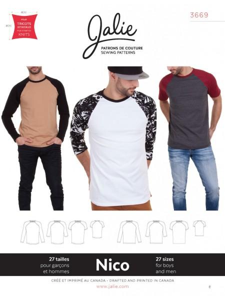 Raglan-Shirt und Longsleeve für Männer und Kinder J3669