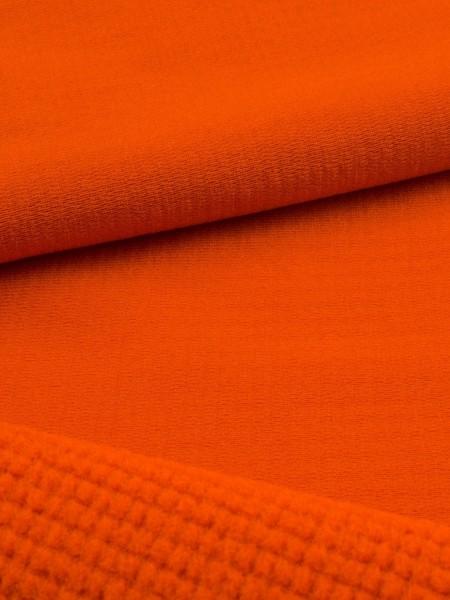 Gewebeart Fleece P-Stretch, Fleece, außen glatt, Grid-Innenseite, 210g/qm REST dunkelorange 0,4m