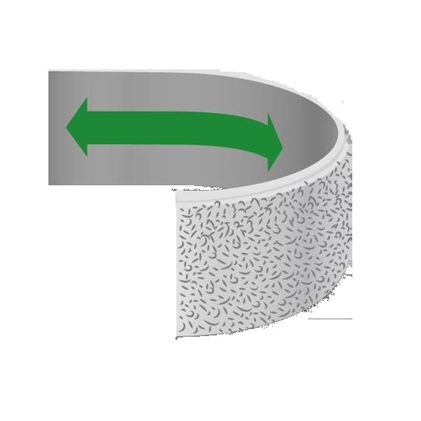 Elastic Velcro Loop Tape, 55mm Width