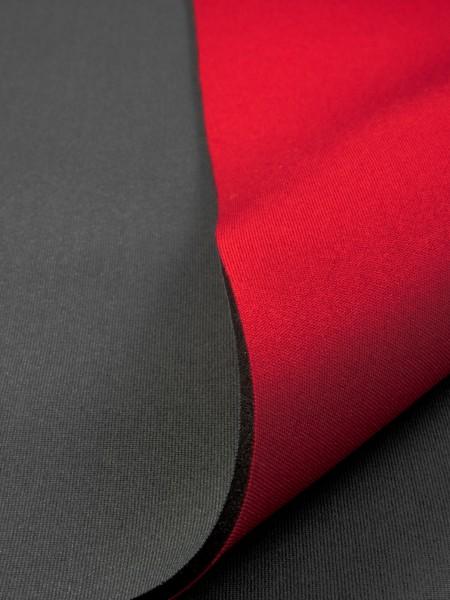 Gewebeart Jersey Neopren, beidseitig kaschiert, 3mm, rot/anthrazit