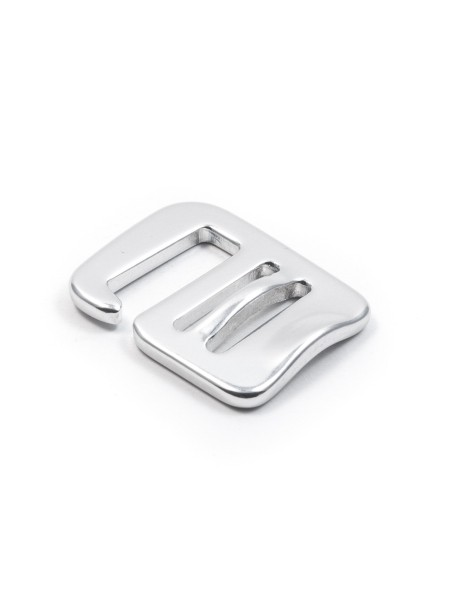 G-buckle webbing-hook, aluminium, w. thumbtension, 20mm