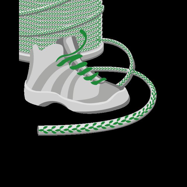 Schnürsenkel, Reflektierend als Meterware