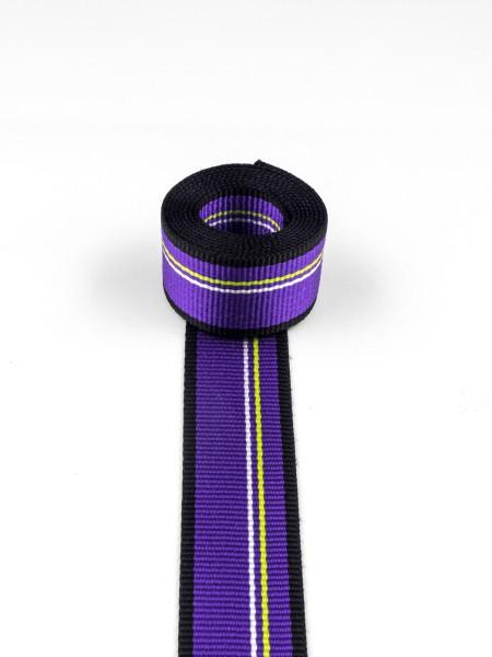 Gurtband (Polyamid), 4-farbig gestreift, 24mm, SONDERPREIS