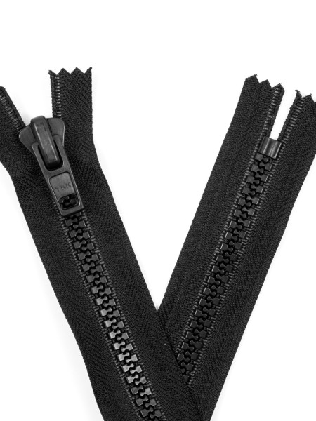 YKK 10VF Zipper with teeth, one way, closed end, 50cm
