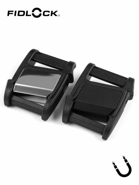 SLIDER 25 SHIELD | magnetic buckle with cover, single side adjustment, 25mm