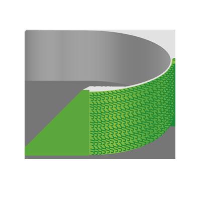 Gegossenes Klettband, Ultra-Mate 100mm als Meterware