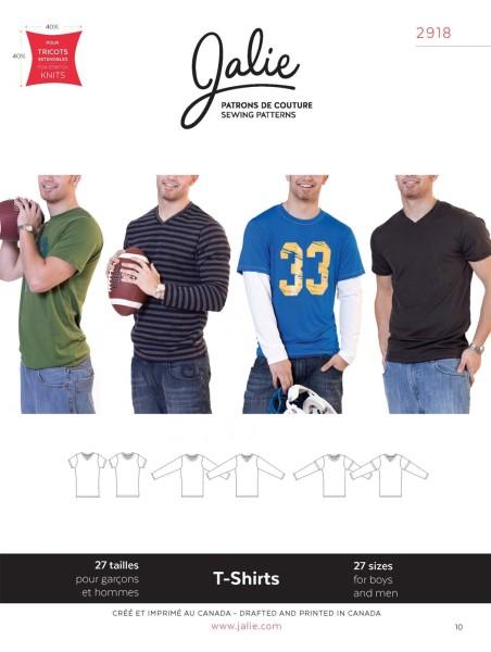 T-Shirt und Longsleeve für Kinder und Männer Schnittmuster J2918