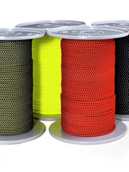 Polyester/UHMW-PE-cord, tent-guyline, reflecting, 2,5mm