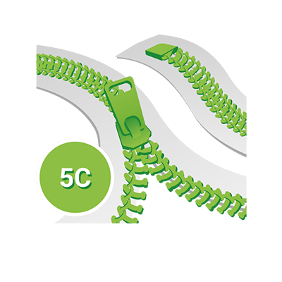 Standard 5C Spirale YKK, Meterware