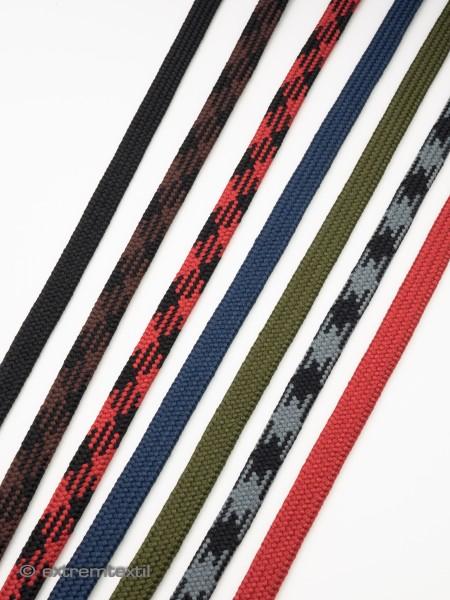 Schnürsenkel-Kordel, flach, soft, Polyester, 7mm