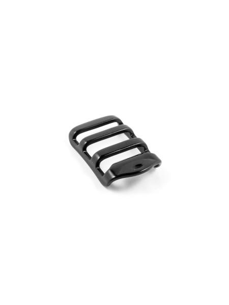 Leiterschnalle, Aluminium, hoch, mit Rand, 20mm