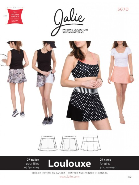 Sport skirt with shorts for girls and women J3670