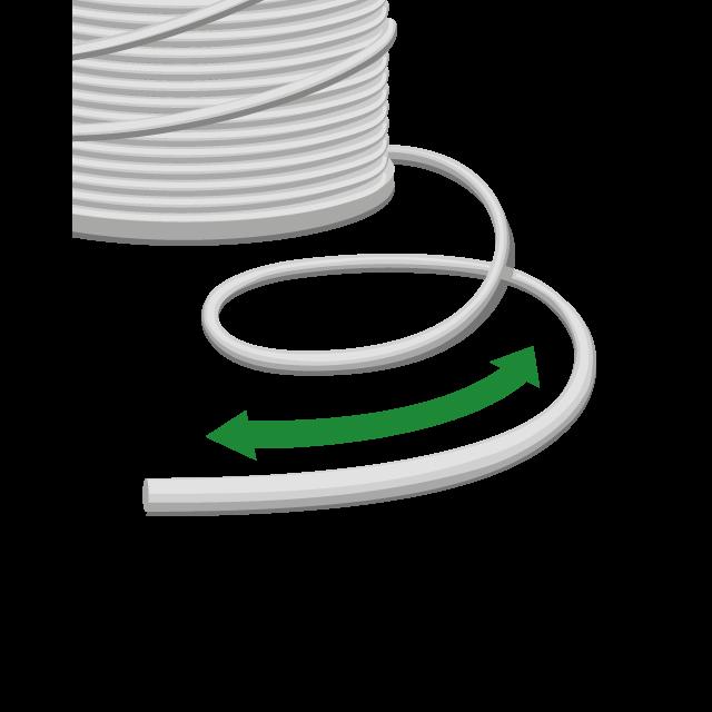 Elastische Kordeln, als Meterware