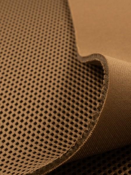3D Mesh, 3mm, COOLMAX, elastic, 330g/sqm, small piece, coyote