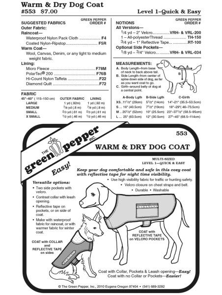 Hundemantel Schnittmuster GP553