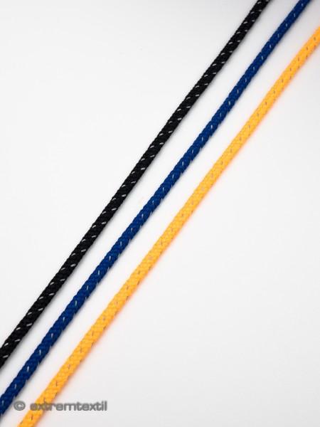 Schnürsenkel-Kordel, rund, fest, reflektierend, Polyester, 3mm