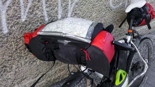 Radtaschen und Rahmentaschen
