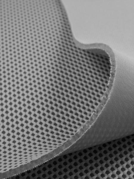 Gewebeart 3D Abstandsgewebe 3D-Netzgewebe, 3mm, COOLMAX, elastisch, 330g/qm, hellgrau