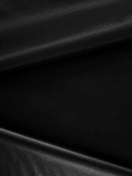 Gewebeart Ripstop Ripstop-Nylon, 40den, TPU-beschichtet, schweißbar, 70g/qm REST schwarz 0,9m
