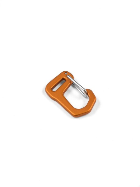 Carabiner-hook with webbing loop, aluminium, anodized, 10mm