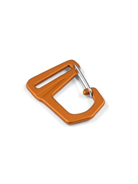 Carabiner-hook with webbing loop, aluminium, anodized, 25mm