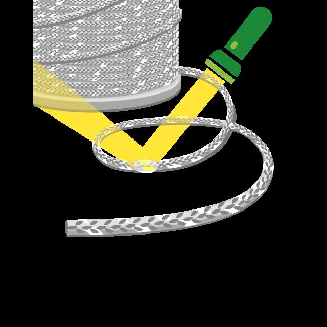 Reflektierende Paspel & Kordel, Kordel als Meterware