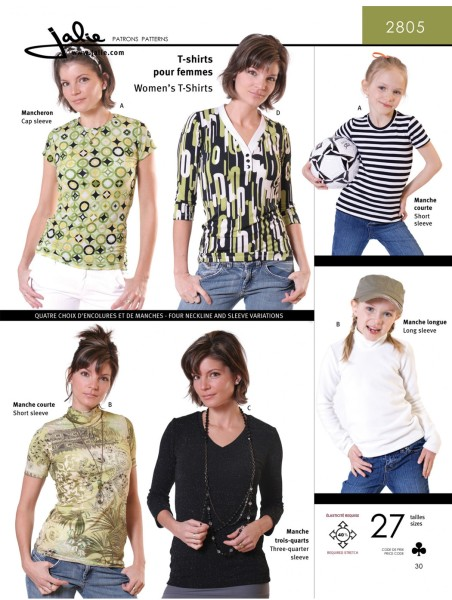 T-Shirt u Longsleeve f Kinder u Frauen Schnittmuster J2805