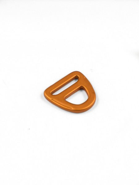 D-Ring, 20mm, with eyelet, aluminium, anodised