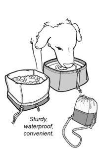 Folding pet bowl and chow bag, GP558