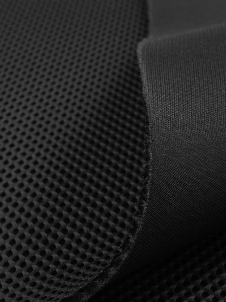 3D Mesh, 3mm, COOLMAX, elastic, 330g/sqm, black