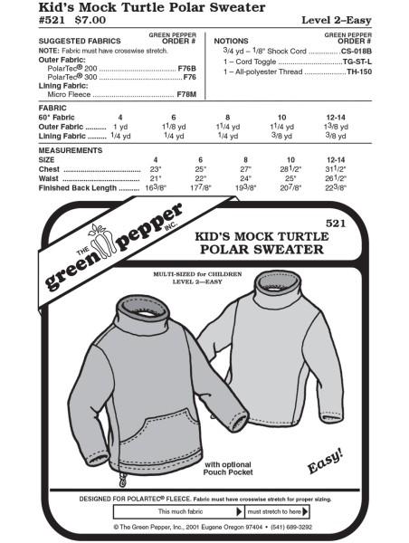 Fleecesweater f. children pattern GP521